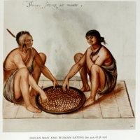 Indian Man and Woman Eating; Their sitting at meate